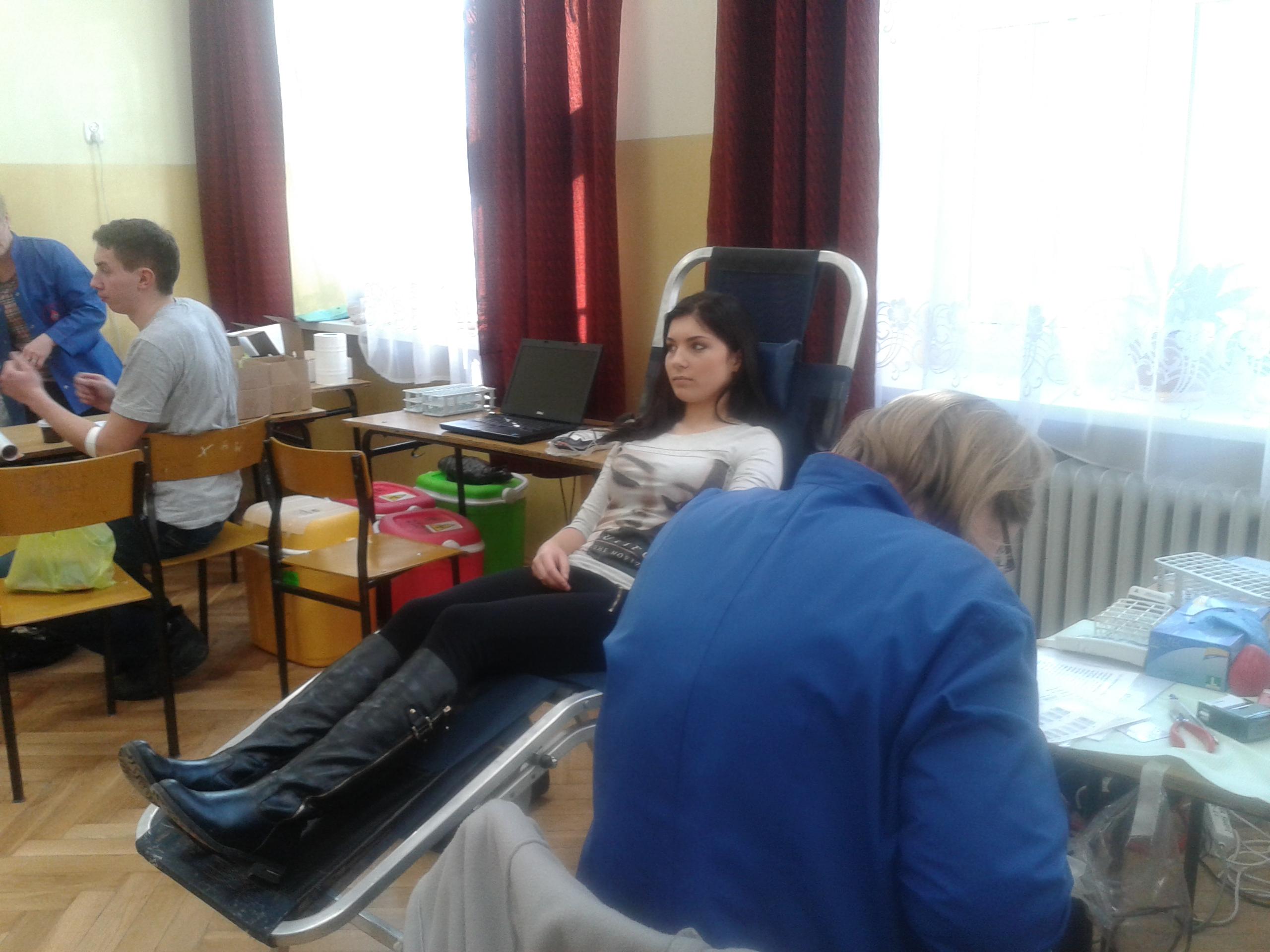 Dar krwi – darem serca, akcja oddawania krwi w ZSZ NR 2